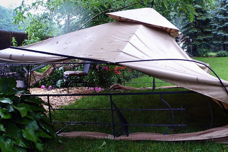 what strength wind can a gazebo withstand