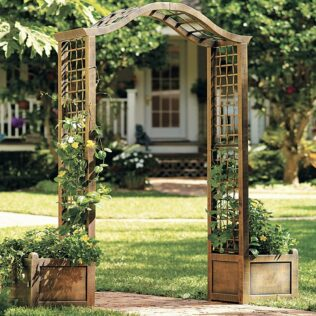 How to Build a Simple Arbour with Planter Boxes & Creative DIY Ideas 2