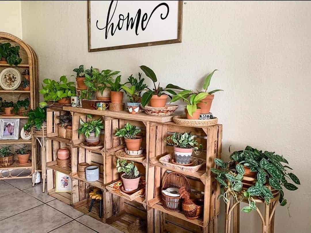 Crate planter box