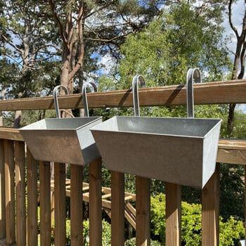 metal herb balcony box